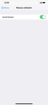 Apple iPhone XR - Réseau - Sélection manuelle du réseau - Étape 5