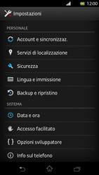 Sony Xperia T - Software - Installazione degli aggiornamenti software - Fase 5