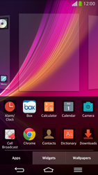 LG D955 G Flex - Getting started - Installing widgets and applications on your start screen - Step 4