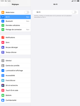 Apple iPad Air (2019) - iPadOS 13 - Wifi - configuration manuelle - Étape 3