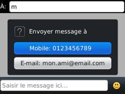 BlackBerry 9320 - Contact, Appels, SMS/MMS - Envoyer un MMS - Étape 7