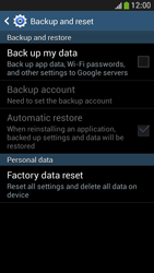Samsung Galaxy S 4 Mini LTE - Mobile phone - Resetting to factory settings - Step 6