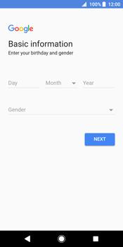 Sony Xperia XZ2 - Applications - Create an account - Step 7