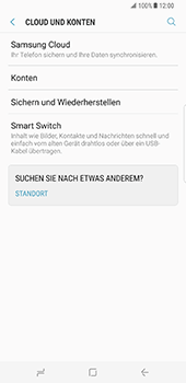 Samsung Galaxy S8 Plus - Datenschutz und Sicherheit - Samsung synchronisieren - 1 / 1