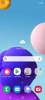 Samsung Galaxy A21s - Internet et connexion - Connexion avec un équipement multimédia via Bluetooth - Étape 1