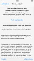 Apple iPhone 6s iOS 10 - Apps - Konto anlegen und einrichten - Schritt 10