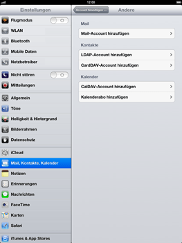Apple iPad 4 - E-Mail - Konto einrichten - Schritt 6