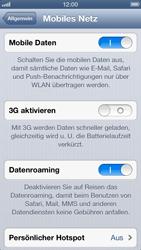 Apple iPhone 5 - Internet und Datenroaming - Deaktivieren von Datenroaming - Schritt 5