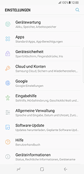 Samsung Galaxy S8 Plus - Software - Installieren von Software-Updates - Schritt 5