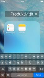 Apple iPhone 6 iOS 9 - Startanleitung - Personalisieren der Startseite - Schritt 6