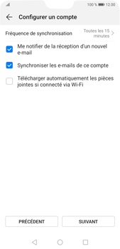 Huawei P20 Pro Android Pie - E-mail - 032b. Email wizard - Yahoo - Étape 7