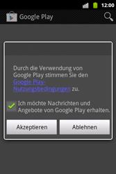 Samsung S5690 Galaxy Xcover - Apps - Konto anlegen und einrichten - Schritt 12
