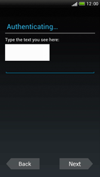 HTC One S - Applications - Setting up the application store - Step 13
