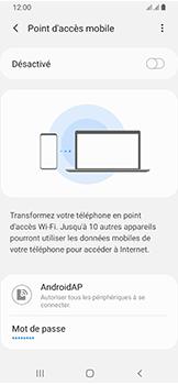 Samsung Galaxy A40 - Internet et connexion - Partager votre connexion en Wi-Fi - Étape 7