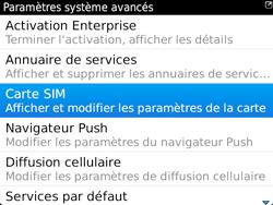 BlackBerry 9720 - Sécuriser votre mobile - Personnaliser le code PIN de votre carte SIM - Étape 6