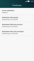 Huawei Y5 - Anrufe - Rufumleitungen setzen und löschen - 6 / 9