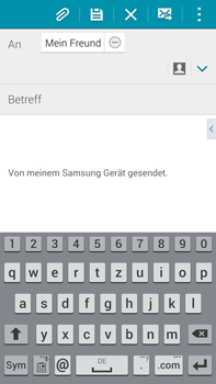 Samsung Galaxy Note 4 - E-Mail - E-Mail versenden - 1 / 1