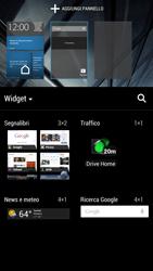HTC One - Operazioni iniziali - Installazione di widget e applicazioni nella schermata iniziale - Fase 7