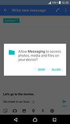 Sony Xperia XZ (F8331) - MMS - Sending pictures - Step 12