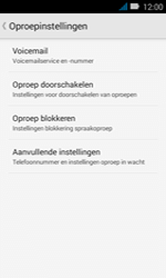Huawei Y3 - voicemail - handmatig instellen - stap 6