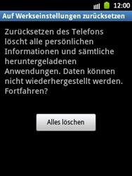 Samsung Galaxy Pocket - Gerät - Zurücksetzen auf die Werkseinstellungen - Schritt 7