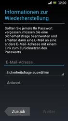 Sony Ericsson Xperia Ray mit OS 4 ICS - Apps - Konto anlegen und einrichten - 9 / 18
