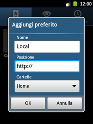 Samsung Galaxy Pocket - Internet e roaming dati - Uso di Internet - Fase 9