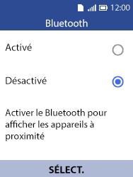 Alcatel 3088X - Internet et connexion - Connexion avec un équipement multimédia via Bluetooth - Étape 6