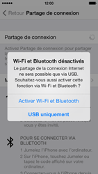 Apple iPhone 5c - Internet et connexion - Utiliser le mode modem par USB - Étape 7