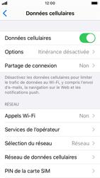 Apple iPhone SE - iOS 13 - Internet et roaming de données - Comment vérifier que la connexion des données est activée - Étape 5