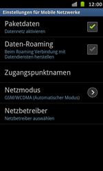 Samsung Galaxy S Advance - Internet und Datenroaming - Deaktivieren von Datenroaming - Schritt 7