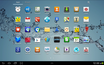 Samsung Galaxy Tab 2 10.1 - Getting started - Installing widgets and applications on your start screen - Step 5