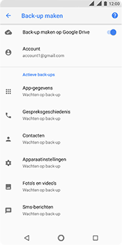 Nokia 5.1 - Data - maak een back-up met je account - Stap 10