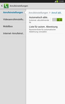 Samsung Galaxy Note 8-0 - Anrufe - Anrufe blockieren - 7 / 14