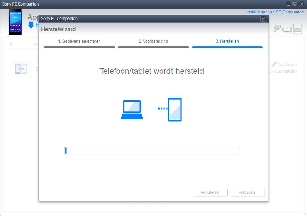 Sony E2303 Xperia M4 Aqua - Software - Backup maken van je toestel - Stap 12