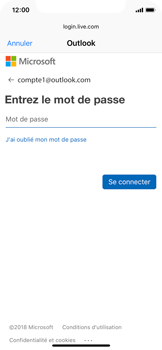 Apple iPhone X - iOS 12 - E-mail - Configuration manuelle (outlook) - Étape 7