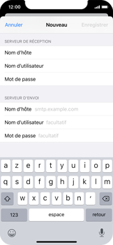 Apple iPhone X - iOS 13 - E-mail - configuration manuelle - Étape 13