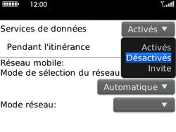 BlackBerry curve 3G - Aller plus loin - Désactiver les données à l'étranger - Étape 6