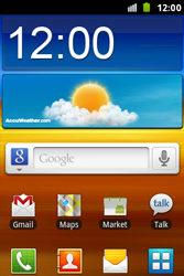 Samsung S7500 Galaxy Ace Plus - Wifi - handmatig instellen - Stap 1