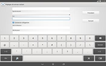 Sony Xperia Tablet Z2 LTE - E-mail - configuration manuelle - Étape 13