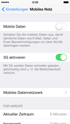Apple iPhone 5s - Internet und Datenroaming - Prüfen, ob Datenkonnektivität aktiviert ist - Schritt 4