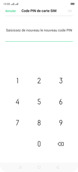 Oppo A9 2020 - Sécuriser votre mobile - Personnaliser le code PIN de votre carte SIM - Étape 12