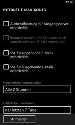 Nokia Lumia 925 - E-Mail - Manuelle Konfiguration - Schritt 18
