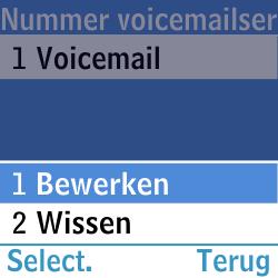 Samsung GT-E1200i - Voicemail - Handmatig instellen - Stap 8