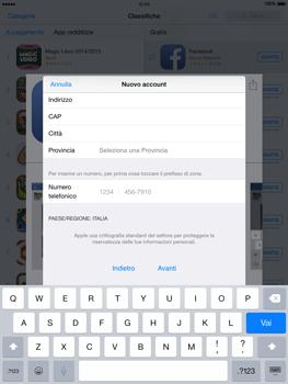 Apple iPad Air - iOS 8 - Applicazioni - Configurazione del negozio applicazioni - Fase 22