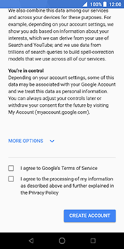 ZTE Blade V9 - Applications - Create an account - Step 14