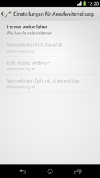 Sony Xperia M2 - Anrufe - Rufumleitungen setzen und löschen - Schritt 8