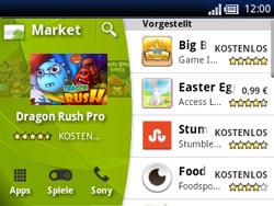 Sony Ericsson Xperia X10 Mini Pro - Apps - Konto anlegen und einrichten - 18 / 19