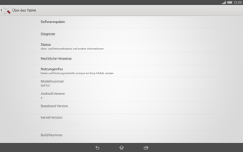 Sony Xperia Tablet Z2 LTE - Software - Installieren von Software-Updates - Schritt 6