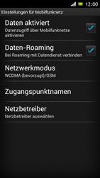 Sony Xperia J - Internet und Datenroaming - Deaktivieren von Datenroaming - Schritt 6